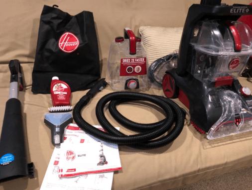 Hoover Power Scrub Elite Pet Carpet Cleaner, FH50251 full set