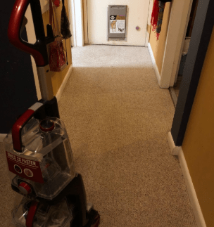 Hoover Power Scrub Elite Pet Carpet Cleaner, FH50251 performance - after