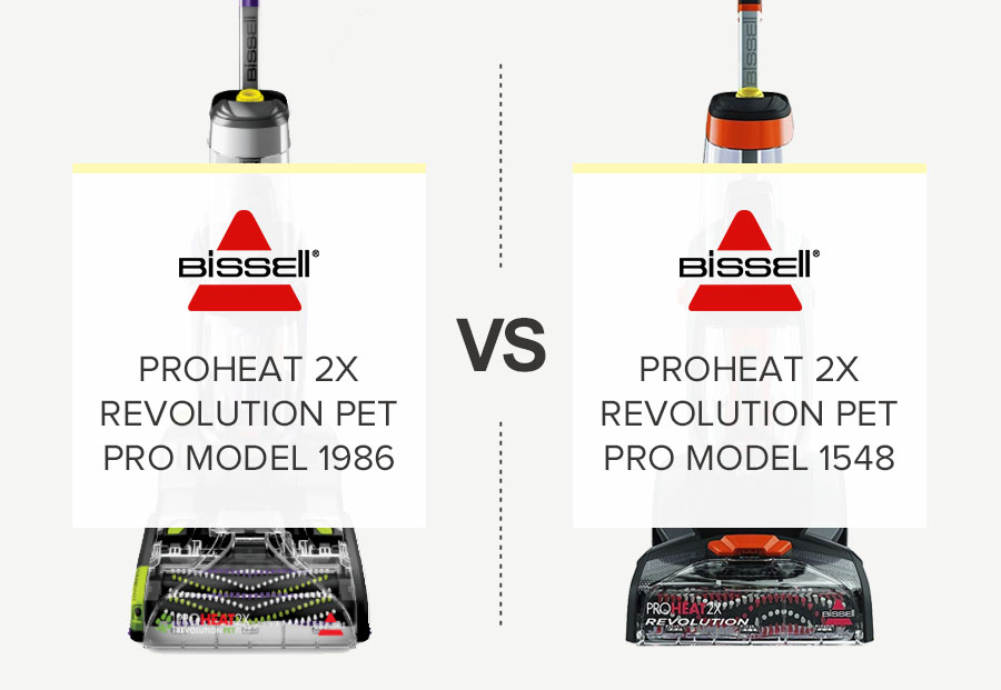 Bissell 1548 vs Bissell 1986 – What is the difference