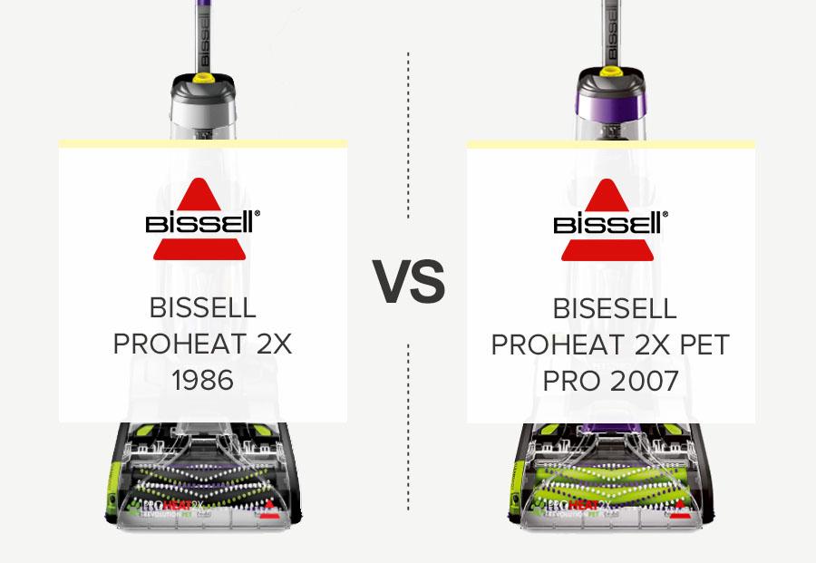 Bissell Proheat 2X 1986 vs Proheat 2X Pet Pro 2007