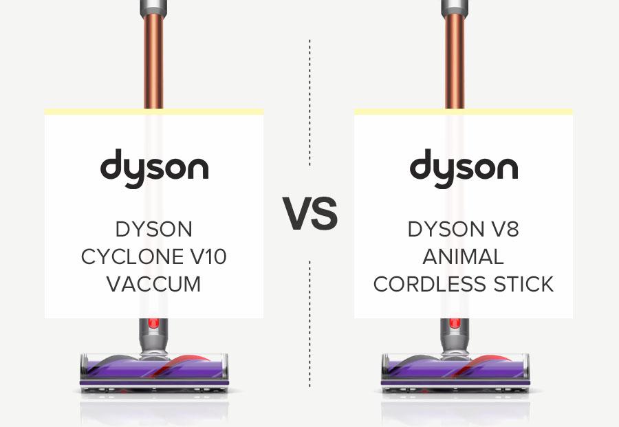 DYSON V10 VS V8 COMPARISON