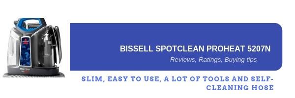 Bissell spotclean 5207N reviews