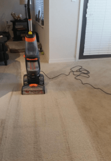 Performance of Bissell Proheat 2X 1548 on room carpet