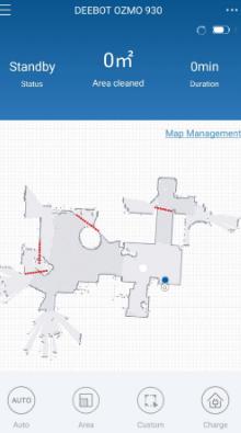 Deebot OZMO 930 Mapping Floor Plan