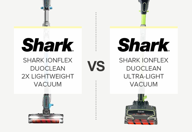 SHARK IONFLEX VS. IONFLEX 2X CORDLESS STICK VACUUM COMPARISON