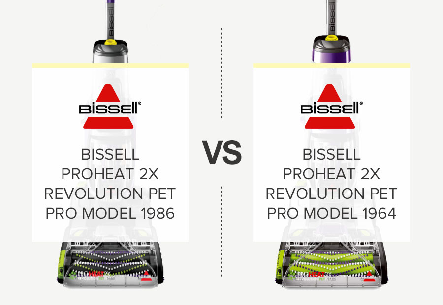 Bissell Proheat 2x Revolution Pet Pro Model 1986 VS Bissell Proheat 2x Revolution Pet Pro Model 1964 Carpet Cleaners