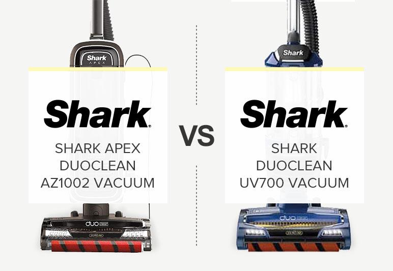 SHARK UV700 VS SHARK APEX AZ1002 COMPARISON